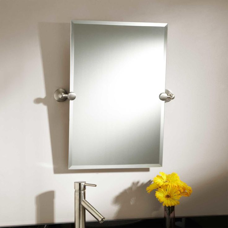 Bathroom Mirrors Brushed Nickel bathroom mirrors: a collection of other ideas to try | wall mount