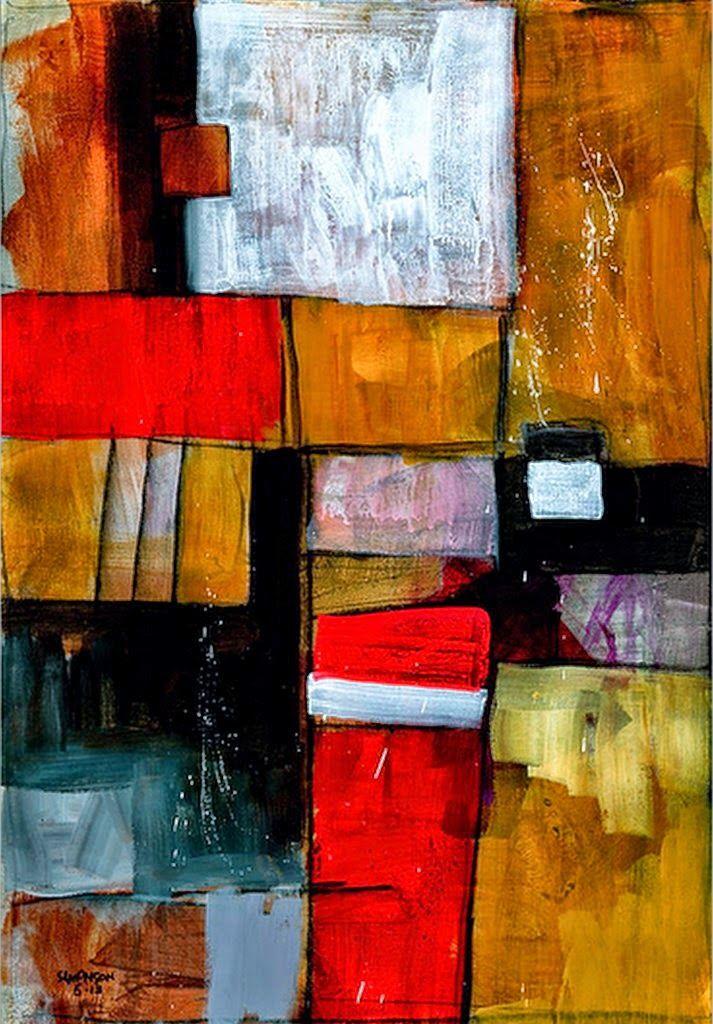 Pinturas cuadros obras abstractas f ciles pintadas en for Idea de pintura de corredor