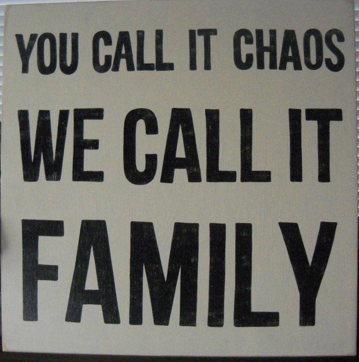You Call It CHAOS We Call It FAMILY XL Wooden by shabbysignshoppe, $79.95