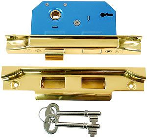 Brass Rebated Mortise Lock with Narrow Back Set | House of Antique Hardware