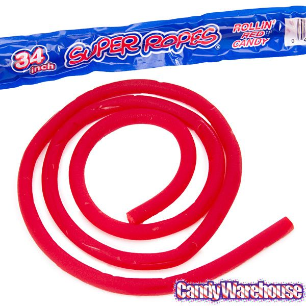 Red Licorice Super Ropes Candy: 60-Piece Box