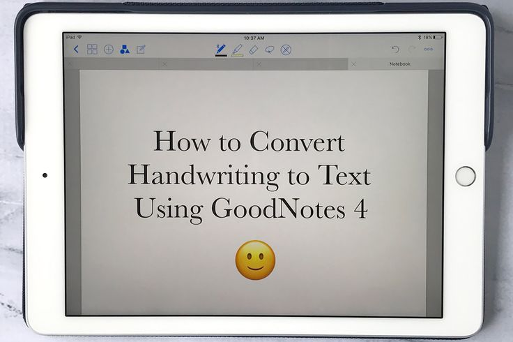 Cookies & Clogs | Technology | If use an iPad Pro and an Apple Pencil to take notes, you will need this easy tutorial. Find out how to convert handwriting to text using the GoodNotes 4 app. Includes video.