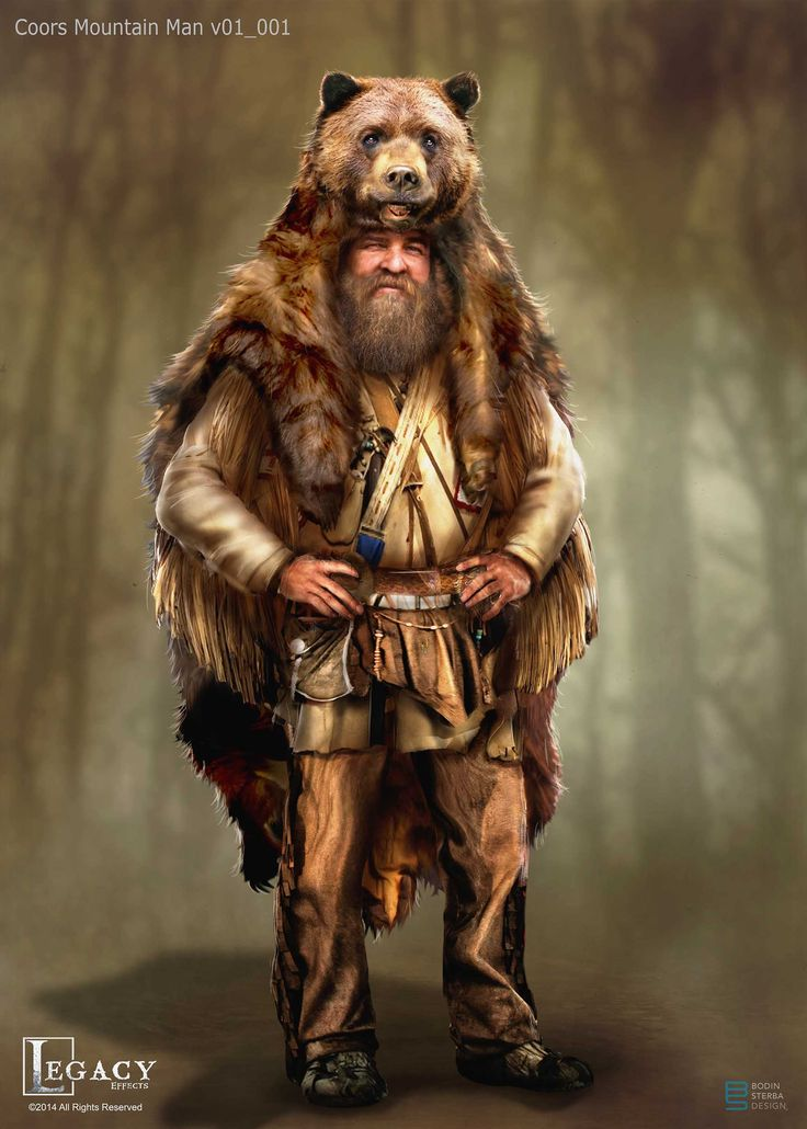 Mountain Man designs for Coors Lite commercial