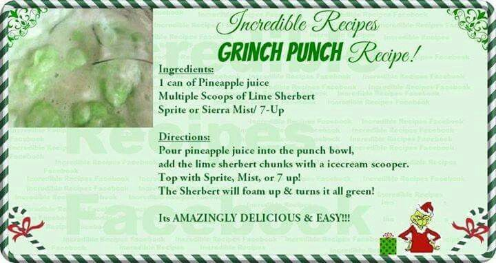 Grinch punch                                                                                                                                                                                 More