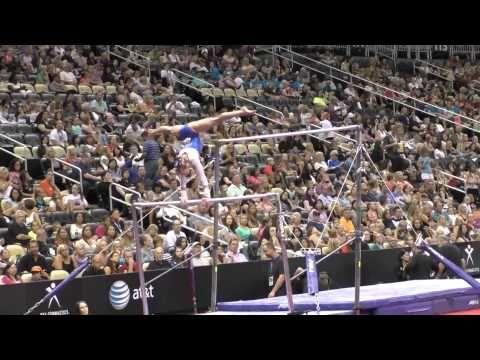 Abby Paulson - Uneven Bars - 2014 P&G Championships - Jr. Women Day 2 - YouTube