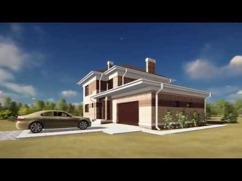Проект двухэтажного дома 200 м.кв. с гаражом #проект #дом #проектдома #архитектура #домсгаражом