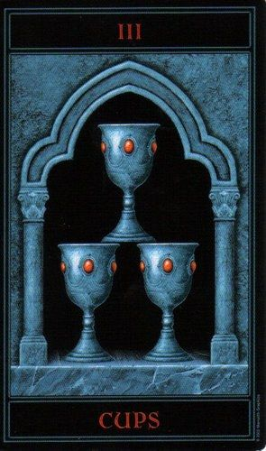 The Gothic Tarot: Three of Cups