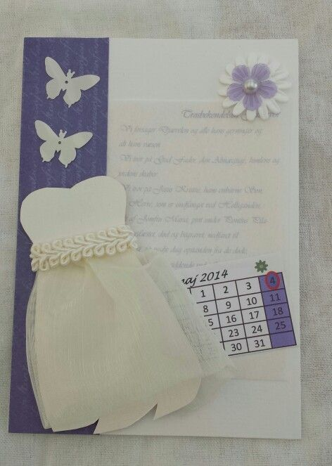 Den endelige konfirmations invitation made by LoneH.dk