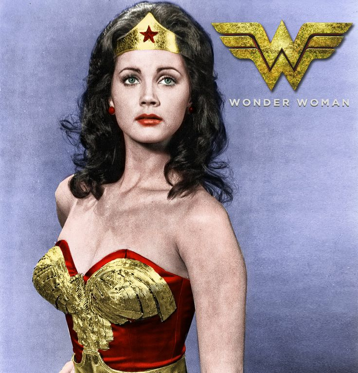 Lynda Carter Wonder Woman Black White To Color By Uperx10