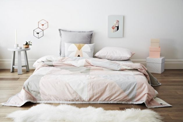 Chambre cocooning pastel