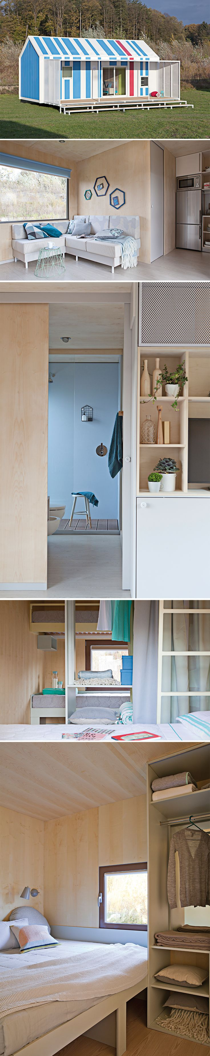 BIG BERRY mobile house interior. Minimalistic, modern, appropriate.