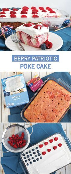 Let your flag fly high this summer with a special Berry Patriotic Poke Cake from Inspired Gathering! This easy-to-make dessert recipe requires few ingredients and is so cute when frosted and topped with blueberries and raspberries. This Americana-inspired dish is perfect to serve at a Memorial Day barbecue, too!