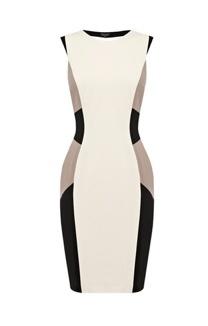 Warehouse color block dress