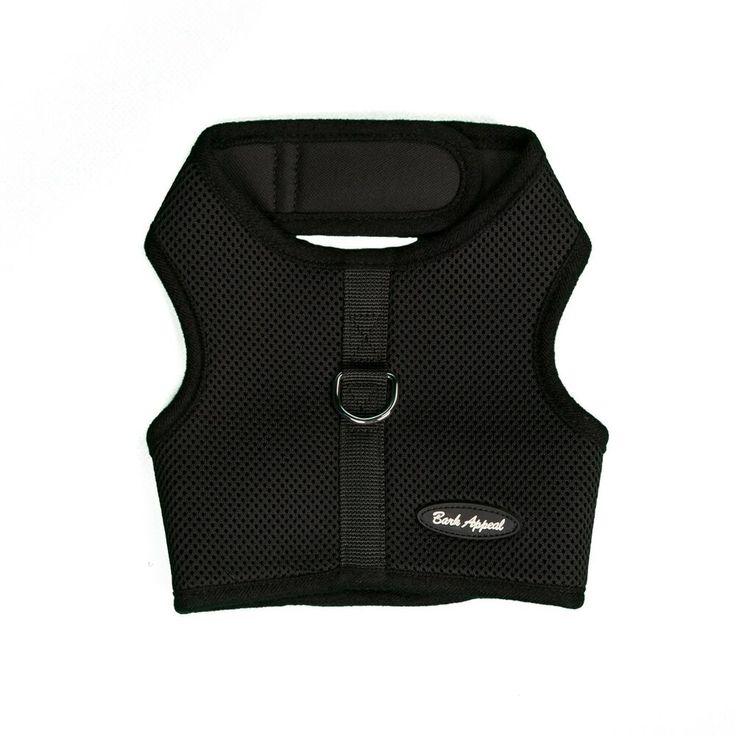 Bark appeal ez wrap n go mesh dog step in harness black