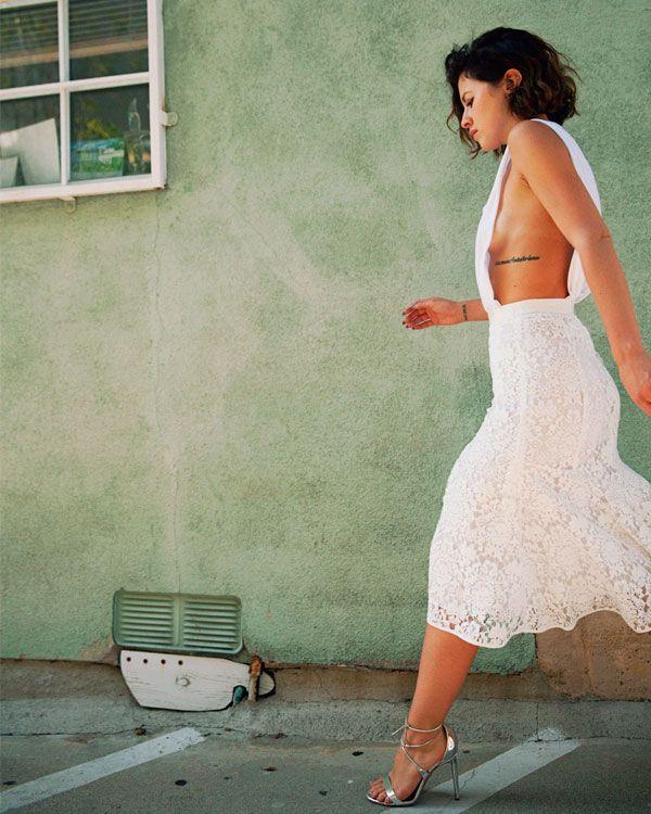 Karla Deras Street Style White Dress