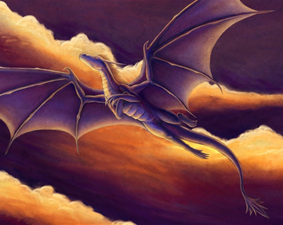 dragon at sunset by anastasiasavon9 on DeviantArt |Dragons And Sunsets