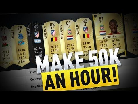 http://www.fifa-planet.com/fifa-ultimate-team/how-to-make-50k-coins-an-hour-fifa-17-ultimate-team-trading-method-2/ - HOW TO MAKE 50K COINS AN HOUR | FIFA 17 ULTIMATE TEAM TRADING METHOD  How to make a good amount of coins every hour! MSP/PSN Codes and Games https://www.g2a.com/r/rig  £50 xbox Code https://www.g2a.com/r/50-xbox Follow me on Twitter: https://twitter.com/UniqueRiggers Follow me on Twitch: http://www.twitch.tv/unique__riggers Some of my other videos SNIPING PR