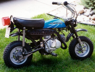 Kawasaki KV75 1971.  I had one of these when I was five....i was the evilest of knievels!