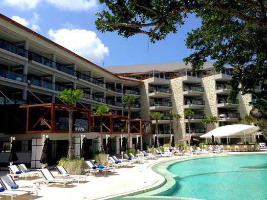 Miami vibe: The hotel has a slight Miami vibe in its design. (Photo by Indra Febriansyah)