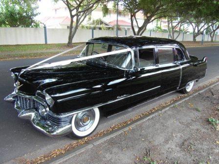 1954 Cadillac Fleetwood Limousine, Seats 8 Passengers + Chauffeur. Wedding & Special Occasion Car #WeddingCarsBrisbane #BrisbaneClassicCarHire  www.premier-limos.com.au