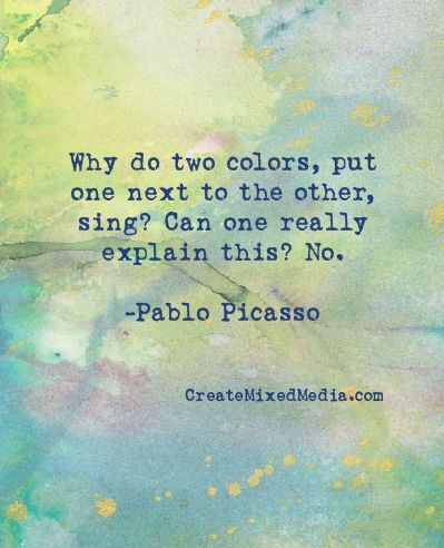 """More color inspiration! (quote on Monsoon Paper by Quinn McDonald, author of """"Inner Hero Creative Art Journal"""")"""