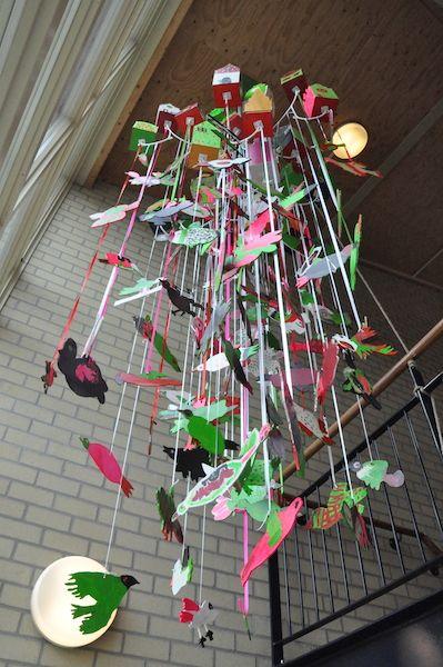 Kunstwerk op basisschool OBS De Wending in Roosendaal. Gemaakt met de leerlingen uit alle groepen ter gelegenheid van het 5- jarig bestaan van de school. www.atelierdeluxe.nl