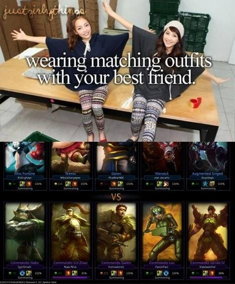 Matching Skins - League of Legends
