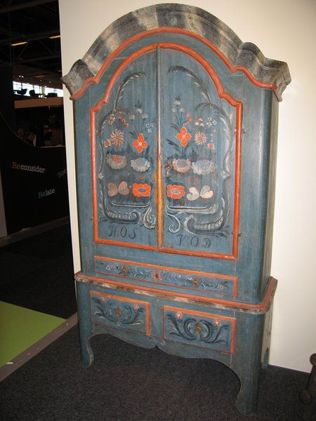 Painted Cupboard From Jamtland Sweden Decorative