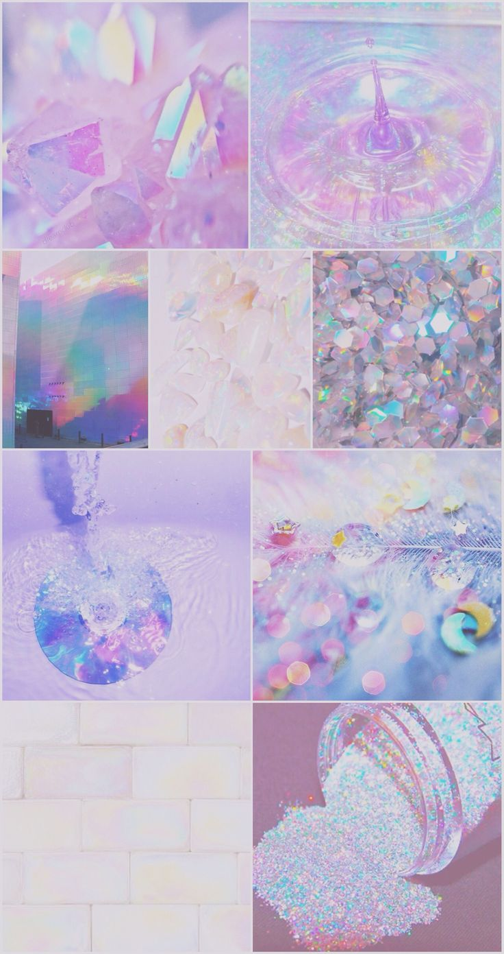 Iridescent holographic iPhone wallpaper, glitter, cute