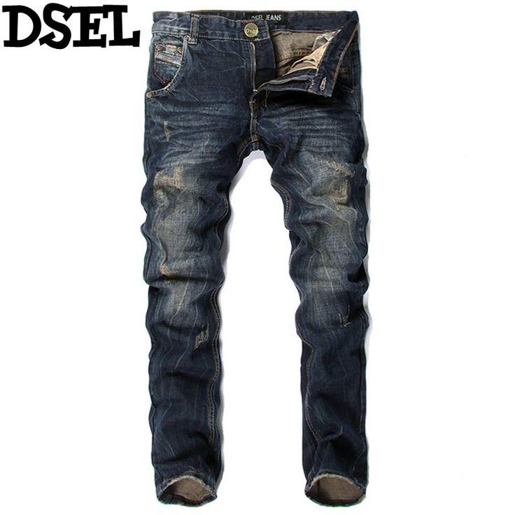 28.99$  Buy here  - Italian Style Men Jeans DSEL Brand Slim Fit Stripe Jeans Mens Pants Fashion Street Biker Jeans Men Retro Vintage Design Trousers