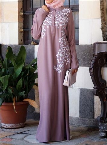 Asymmetrical Embroidered Gown