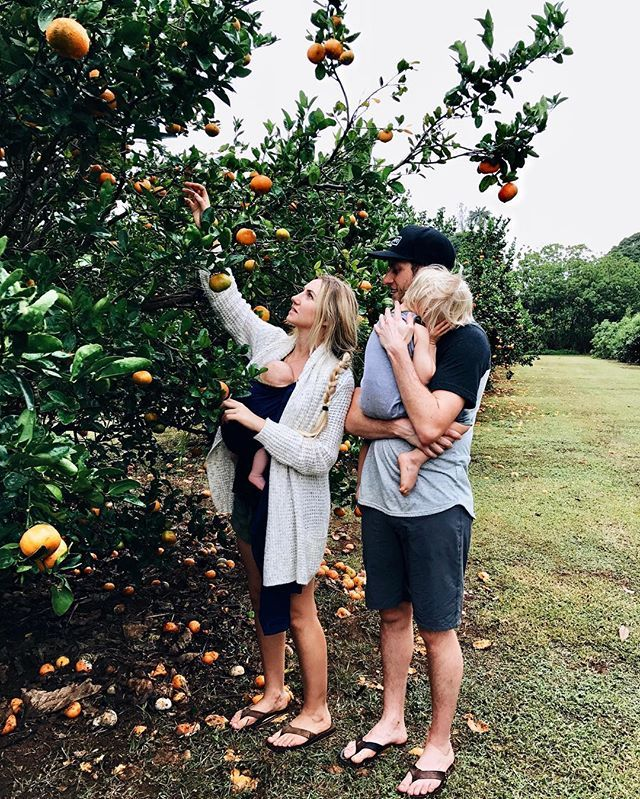 Everyday adventures with kids, family fruit picking, outdoor family // Pinterest @belandbeau