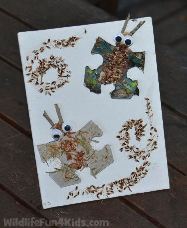 Recycled Puzzle Piece Animals | Wildlife Fun 4 Kids