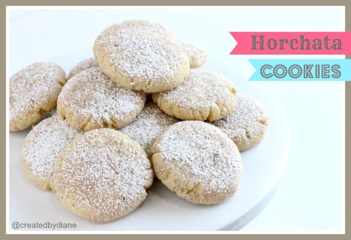 A Mexican version of snicker doodle cookies, made with pudding mix these cookies are moist and delicious. LIke the Mexican Horchata Drink, these have a wonderful aroma and rice pudding taste.