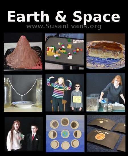 Fun Earth and Space Series (includes video demonstrations for each activity!) - http://susanevans.org/blog/earth-space-series/