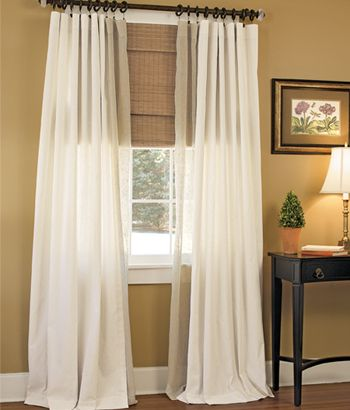 Homespun weaver39s cloth rod pocket curtains i like this for Curtains that look like roman shades