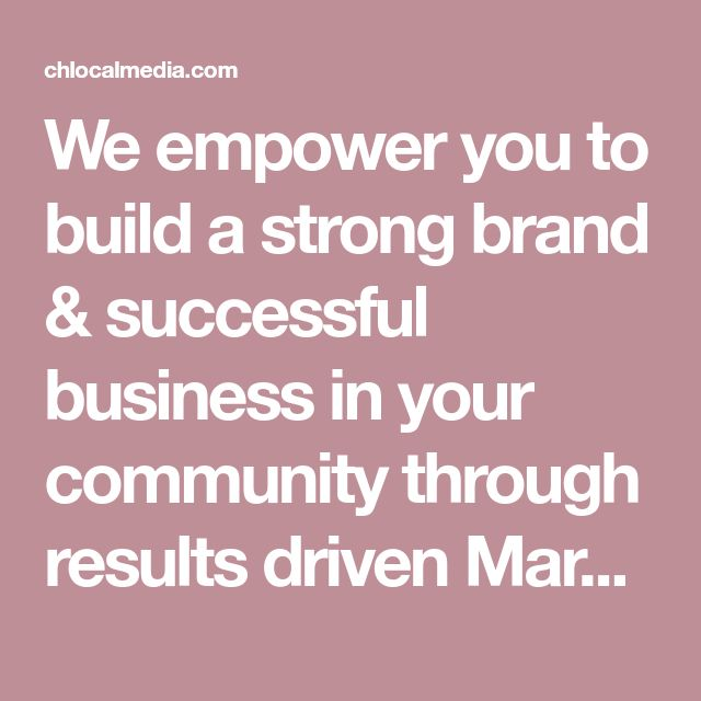 We empower you to build a strong brand & successful business in your community through results driven Marketing, SEO, Web Design, and more to help your business get found online at the right place and the right time by potential customers. Visit us to learn how we can help you dominate your market.