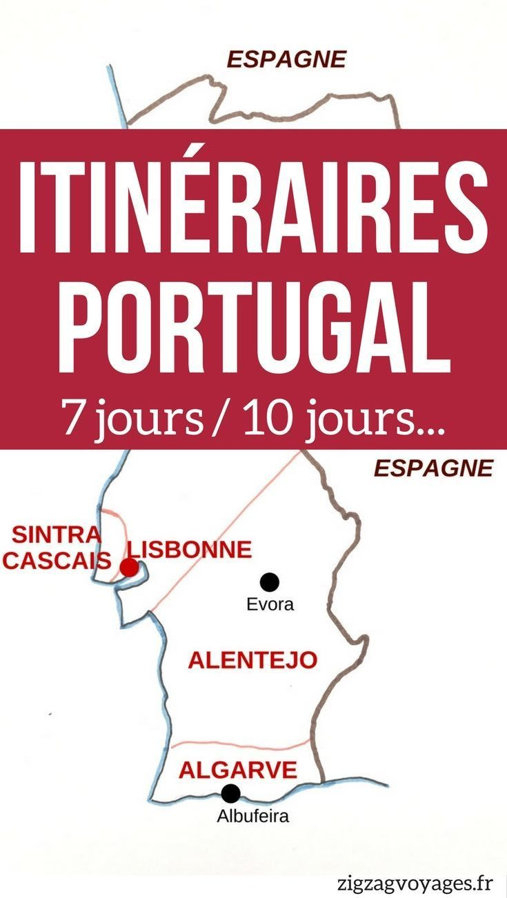 Portugal Voyage - Guide pratique pour planifier votre Road Trip au Portugal avec des conseils et des suggestions d'itinéraires au Portugla pour 1 semaine, 10 jours où plus   Portugal itinéraire   Portugal vacances #Portugal