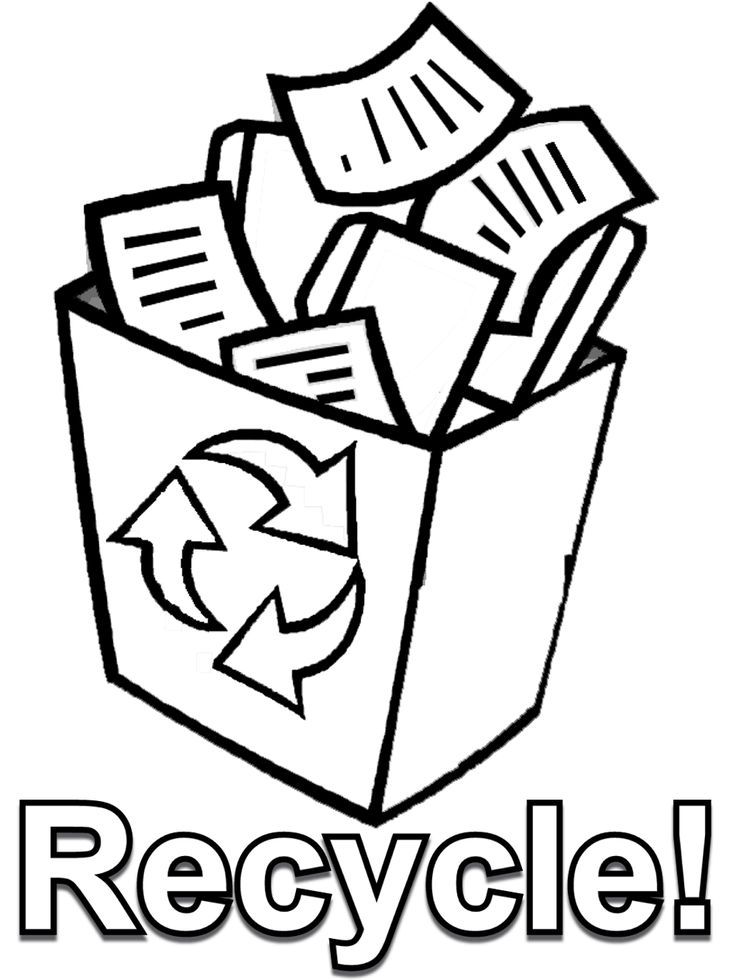 Earth Day Coloring Page Recycle