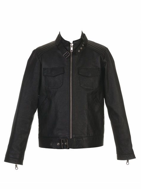 Boy's Cafe Racer Leather Jacket pattern from @BurdaStyle {if I was the coolest mom, ever}