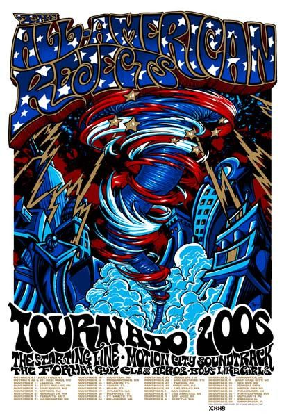 Purchase the 2006 All American Rejects Tour Poster by artists Johnny Thief & Jeff Wood/Drowning Creek Studio from Zen Dragon Gallery
