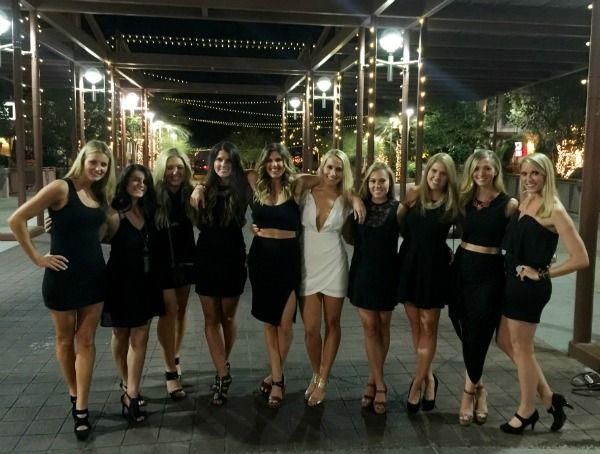 Black Dress Bachelorette Party