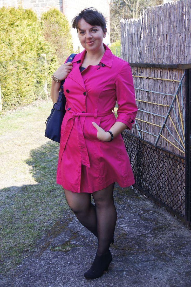 Pink coat - women fashion