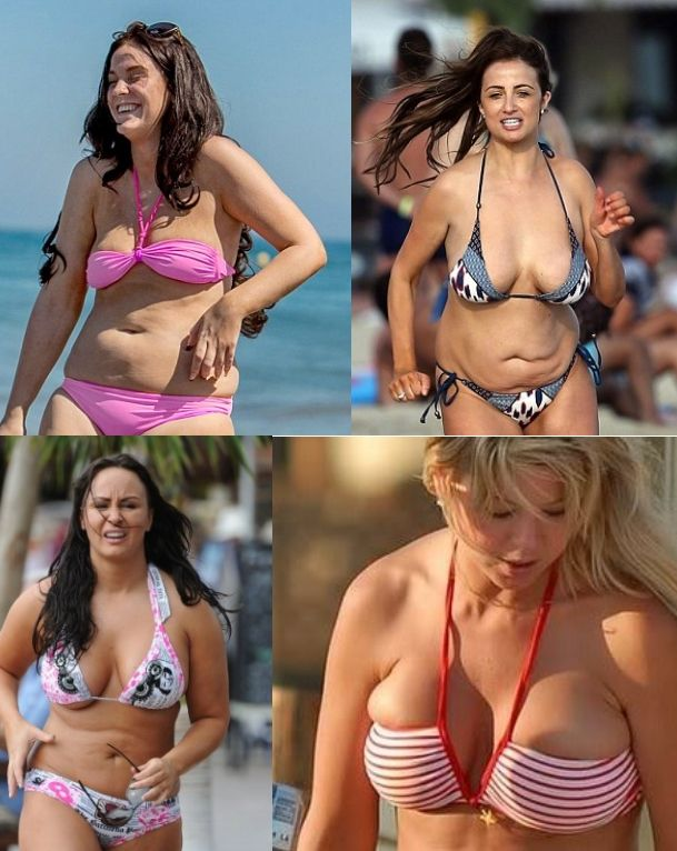 BIKINI TIPS: The bikini bras should shape and lift your breasts. Always cover your breasts in a decent way, choose the right size!