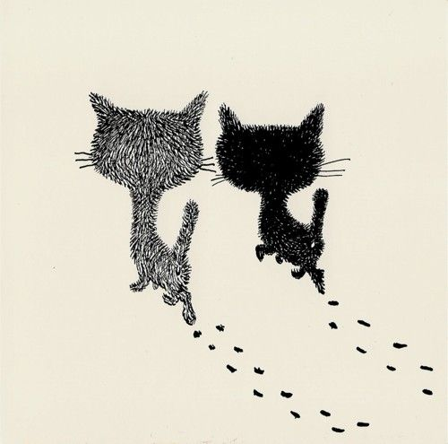 Les chats de Dubout sont plus jolis que ses personnages!
