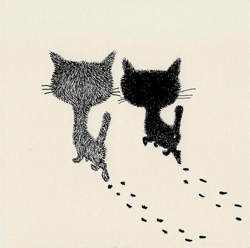 """Pim & Pom, two kittens"" - by Fiep Westendorp also illustrator of  the Jip en Janneke series written by Dutch writer Annie MG Smidt ~"