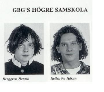 I guess that Henrik Berggren DOESN'T want to be called cute, but he is! :) Håkan Hellström... Well, his hairdo has a touch of the 80s.