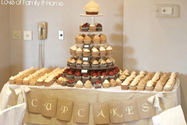 CUPCAKE Wedding Table  DIY Rustic, Chic, Fall Wedding Reveal... - Love of Family & Homewww.MadamPaloozaEmporium.com www.facebook.com/MadamPalooza