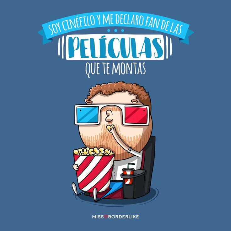 Soy cinéfilo y me declaro fan de las películas que te montas. #ElMonaguillo #frases #humor #viñetas #divertidas #graciosas #peliculas #funny