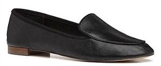 Witchery black leather loafer